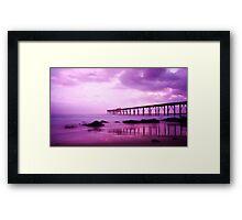 Pink Sunrise - Catherine Hill Bay Framed Print