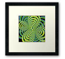 Fractal Lace Framed Print