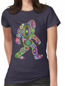 Colorful Bigfoot Womens Fitted T-Shirt