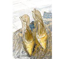 Gold Sling Backs Photographic Print