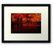 Sunset Over The City Framed Print