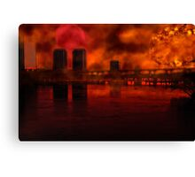 Sunset Over The City Canvas Print