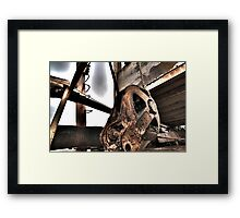 HDR Rusty Pulley Framed Print