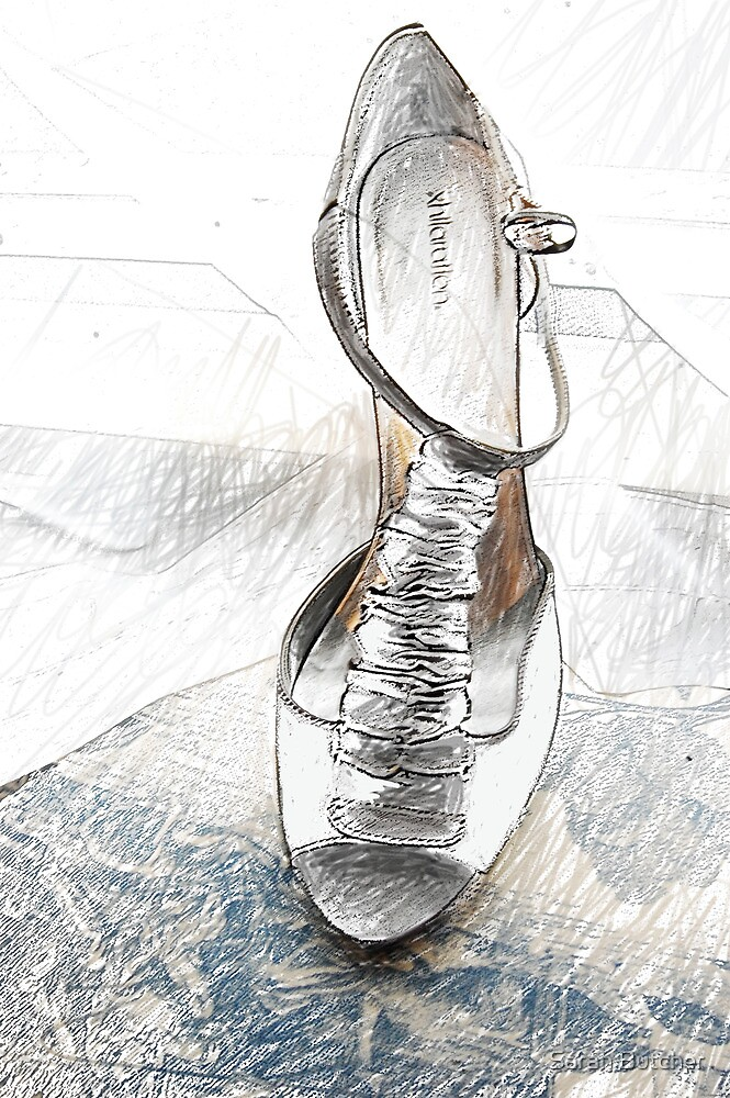 Tall Grey Sandal by Sarah Butcher