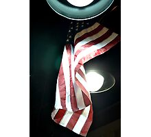 American Flag in the Night Sky Photographic Print