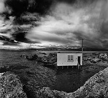 Boatshed from the Rocks by Peter Kurdulija