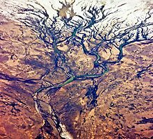 Aerial Artery Artistry of Lake Eyre Region by TonyCrehan