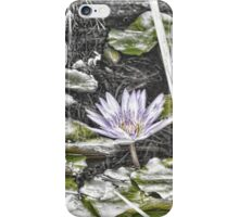 Faded water lily iPhone Case/Skin