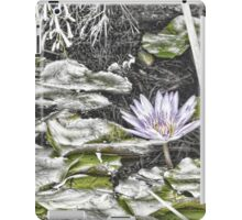 Faded water lily iPad Case/Skin