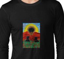 Mama Crow Suddenly Sees a Beautiful.... Long Sleeve T-Shirt