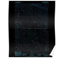 USGS Topo Map Washington State WA The Cottonwoods 244246 1984 24000 Inverted Poster