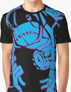 Metroid Fusion Nightmare - Blue Graphic T-Shirt