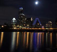 Austin skyline at night by Nazm  Photography