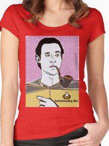 Lt. Commander Data of the starship Enterprise  Women's Fitted Scoop T-Shirt