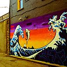 The Great Wave...Graffit style by Jason Dymock