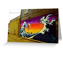 The Great Wave...Graffit style Greeting Card
