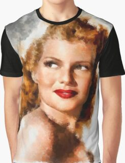 Rita Hayworth by John Springfield Graphic T-Shirt
