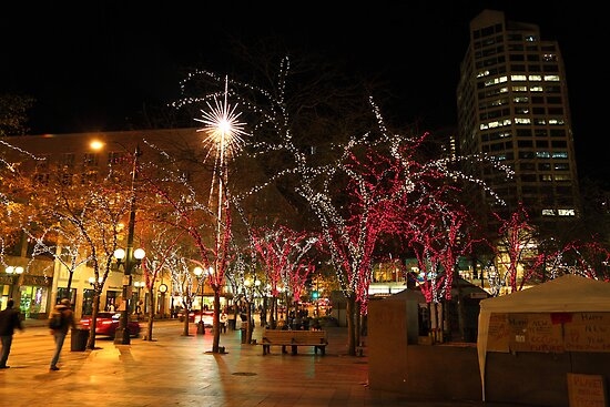 Seattle night by zumi