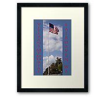 new veterans memorial flagpole, fairhaven, washington, usa Framed Print