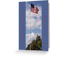 new veterans memorial flagpole, fairhaven, washington, usa Greeting Card