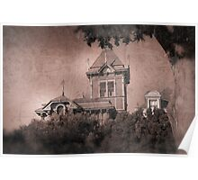 Victorian House Aged Picture Poster