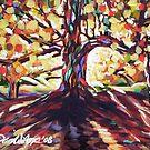 Fall Tree in Sunlight by Dan Wilcox