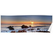 Corona Del Mar Sunset Panorama - HDR Poster