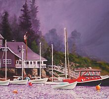 Storm arrives at boat club by Dan Wilcox