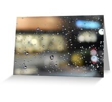 Rain in the City Greeting Card