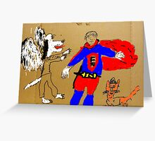 The Adventures of FU Man (in Color) Greeting Card
