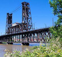 Steel Bridge Portland Oregon by Don Siebel