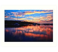 Sunrise @ Middle Harbour Art Print
