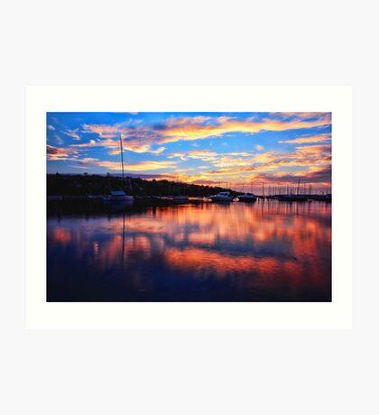 Sunrise @ Middle Harbour Art Print