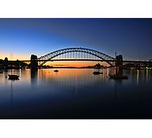 Sydney Opera House and the Harbour Bridge  Photographic Print