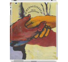 A street mural handshake iPad Case/Skin