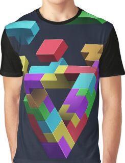 Penrose Tetris Graphic T-Shirt