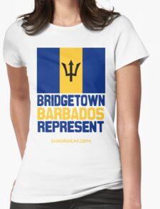 Bridgetown Barbados Represent Womens Fitted T-Shirt