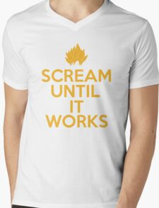 Keep Calm and Scream Until It Works Mens V-Neck T-Shirt