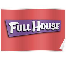 Full House Logo Poster