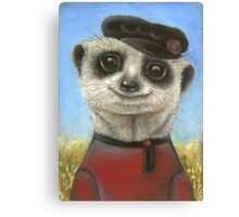 Yuri the meerkat Canvas Print