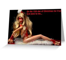 13th day of Christmas Greeting Card