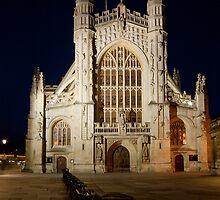 Bath Abbey at night by Karl Thompson