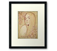 Art Nouveau Portrait Framed Print