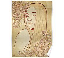 Art Nouveau Portrait Poster