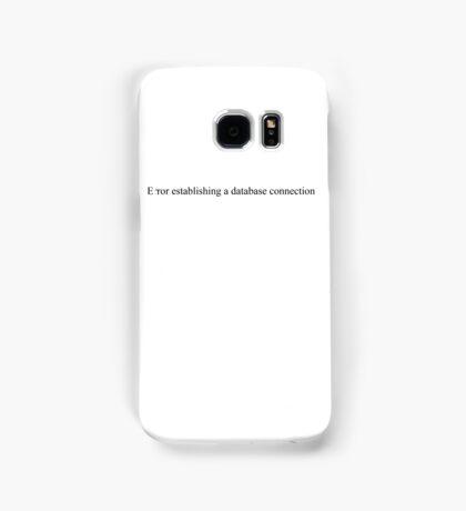 Error establishing a database connection - white text Samsung Galaxy Case/Skin