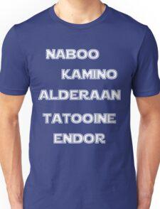 Star Wars Famous Planets Unisex T-Shirt