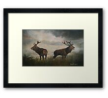 End of Round One Framed Print