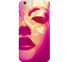 Glamour painted pink fashion face case iPhone Case/Skin