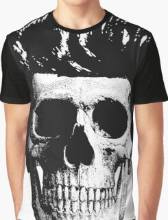 Rockabilly Skull Graphic T-Shirt