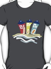 HAPPY BEACH HUTS tee/baby grow T-Shirt